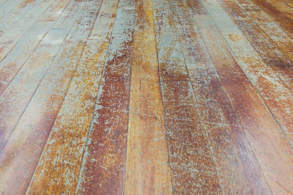 worn hardwood floors