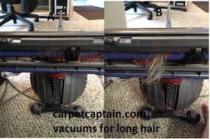 long hair tangled in vacuum beater bar