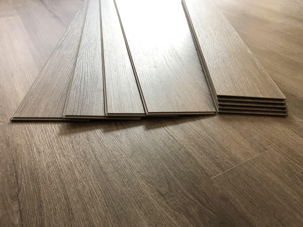 luxury vinyl flooring stacked
