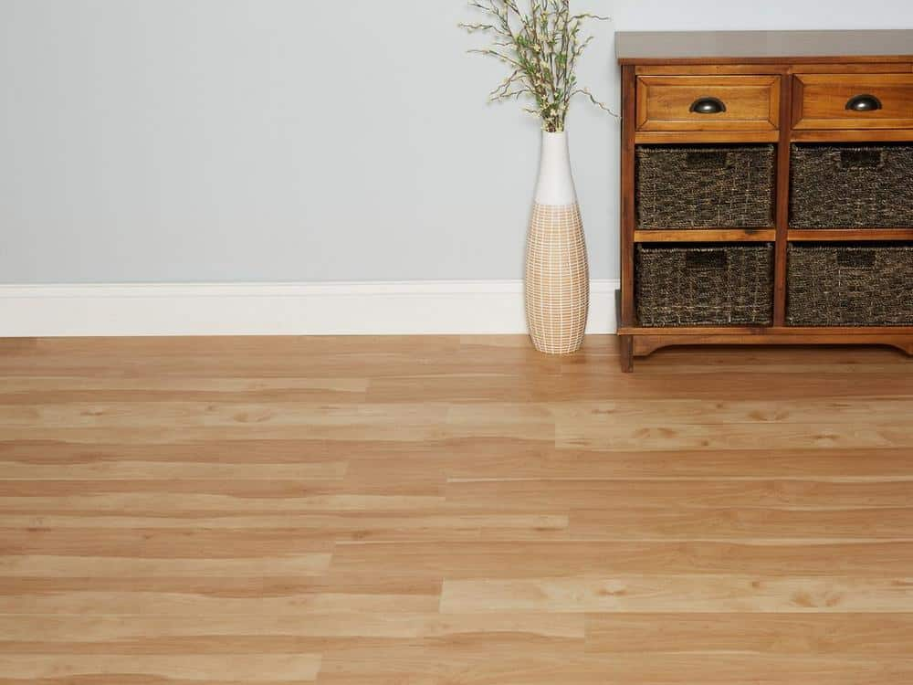 beige nucore flooring in a home